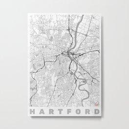 Hartford Map Line Metal Print