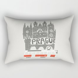 Prague Cityscape Rectangular Pillow