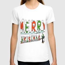 """Merry Christmas Penguins"" T-shirt"