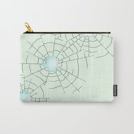 Bullet Holes in Glass Carry-All Pouch