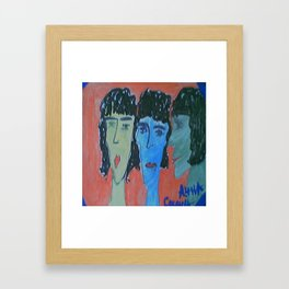 the three of all Framed Art Print