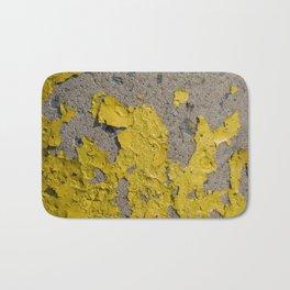 Yellow Peeling Paint on Concrete 2 Bath Mat