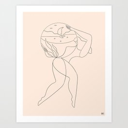 The day she realized she could Art Print