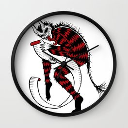 Naughty or Nice Krampuskarten Wall Clock
