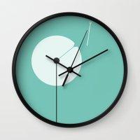 dandelion Wall Clocks featuring Dandelion by Volkan Dalyan