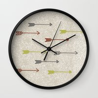brave Wall Clocks featuring BRAVE by Lex Bleile