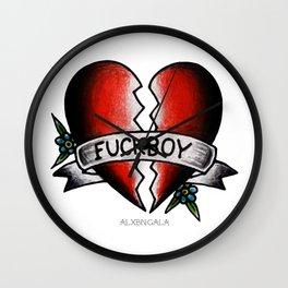 Fuckboy Flash | Heart Wall Clock