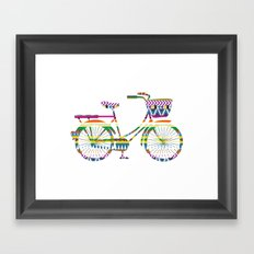 Bicycle with Tribal Pattern Framed Art Print