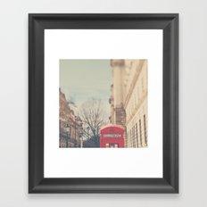 on a city street ...  Framed Art Print