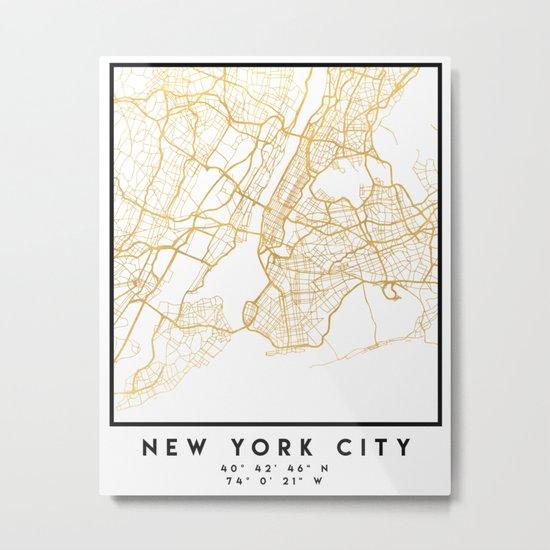 NEW YORK CITY NEW YORK CITY STREET MAP ART Metal Print