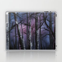 """""""into the woods"""" a night forest landscape in oil Laptop & iPad Skin"""