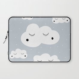 clouds and dots Laptop Sleeve