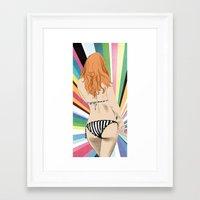 bikini Framed Art Prints featuring Bikini by Sil-la Lopez