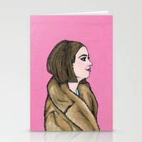 tenenbaum Stationery Cards featuring Margot Tenenbaum by Q Design