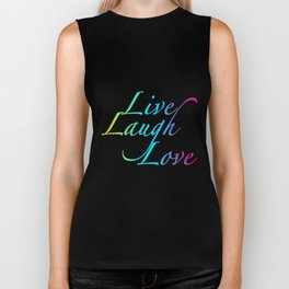 Live, Laugh, Love Biker Tank