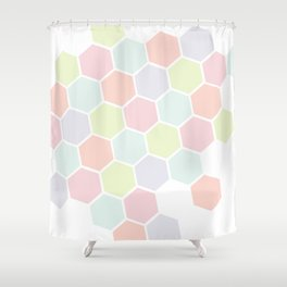 Pastel Buzz Shower Curtain