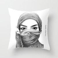 kiki Throw Pillows featuring Kiki by BenHucke