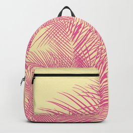 Palm Leaves, Pink Backpack