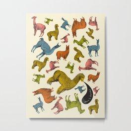 camelids Metal Print