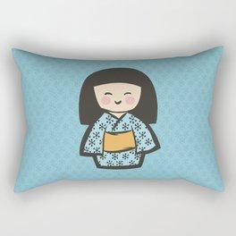 Geisha Dress Code (blue) Rectangular Pillow