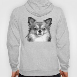 Black and White Chihuahua Hoody