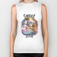 the little mermaid Biker Tanks featuring Little Mermaid by Lidia Gennari