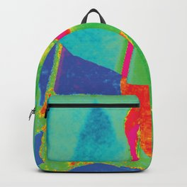 faucet face triad blue purple red Backpack