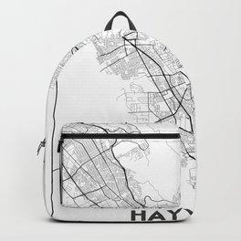 Minimal City Maps - Map Of Hayward, California, United States Backpack