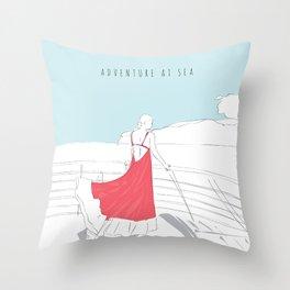 Glamorous Adventure At Sea Throw Pillow