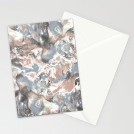 Marble Mist Terra Cotta Blue Stationery Cards