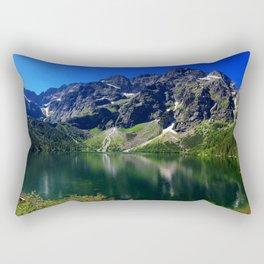 Morskie Oko summer 4k mountains Tatras mountain lake Polish lakes Carpathians Poland Rectangular Pillow
