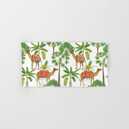 Camels and palms Hand & Bath Towel