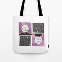 fuck you Tote Bags featuring fuck you ! by demii whiffin