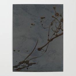 Jackson Pollock Inspired Study In Black - Glam Poster