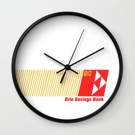 Erie Savings Bank (Red) Wall Clock