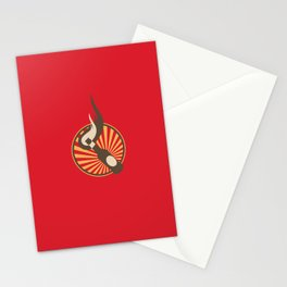 Molotov Cocktail with beams Stationery Cards
