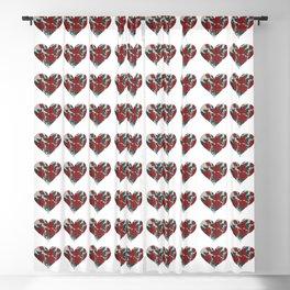 Vintage Rose Heart Blackout Curtain