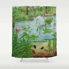 A Day of Forest (4). (the lake ecosystem) Shower Curtain