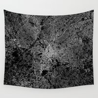 atlanta Wall Tapestries featuring Atlanta map Georgia by Line Line Lines