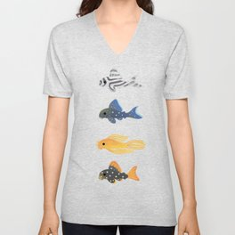 Pleco! - white Unisex V-Neck