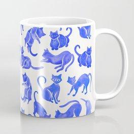 Cat Positions – Blue Palette Coffee Mug