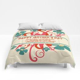 mother's day postcard design element Comforters