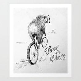 Tour de Bluff Poster Art Print