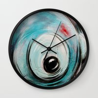 bubblegum Wall Clocks featuring Bubblegum by Nathalie Lagacé