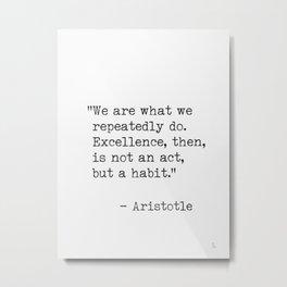 Aristotle quotes Metal Print