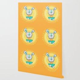 Yoga animals - Rabbit in lotus pose Wallpaper