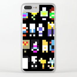 Minimalist undertale characters Clear iPhone Case
