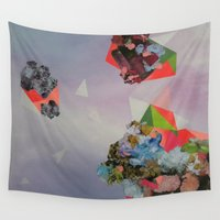 mineral Wall Tapestries featuring Mineral Fracture by Sara Cannon Art