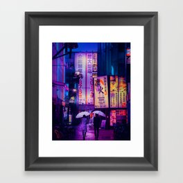 Tokyo Nights / Valentines Day / Liam Wong Framed Art Print