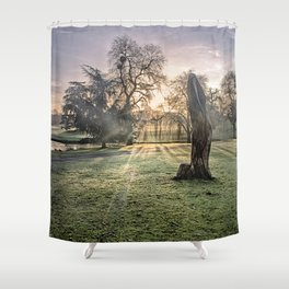 Morning Sun At Leeds Shower Curtain